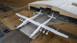 Stratolaunch, world's largest-ever airplane with wingspan, does first runway roll