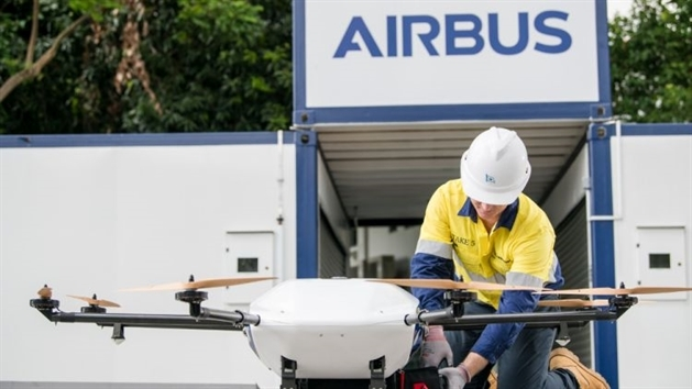 Airbus tests first shore-to-ship drone deliveries