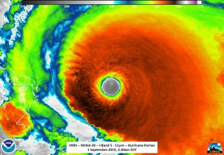 Hurricane Dorian in Action in these Gifs NASA and NOAA Took from Space