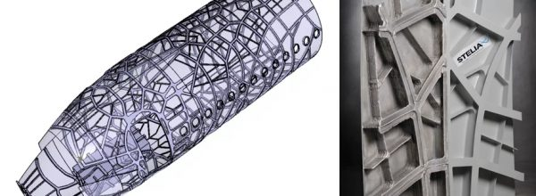 3D Printing to Create Self-Reinforcing Aircraft Fuselage Panel