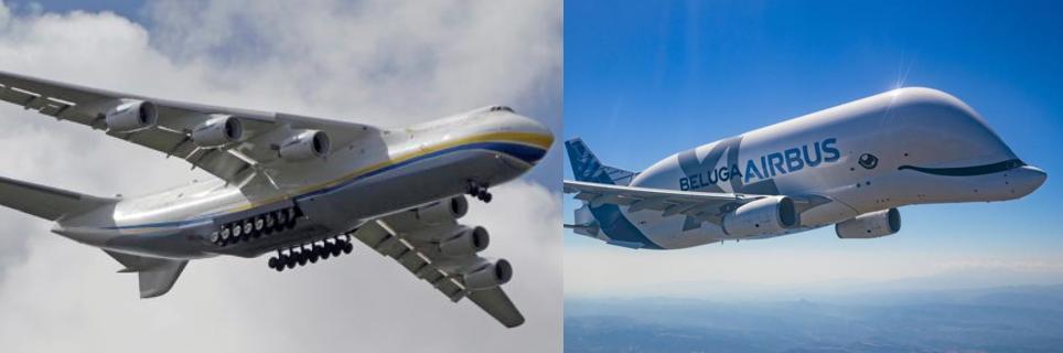 """""""Antonov An-225Mriya""""  vs  """"Airbus Beluga XL"""""""
