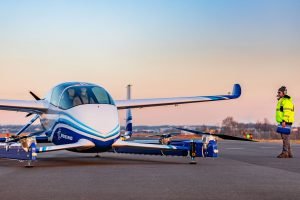 First flight of Boeing's air taxi (see video)